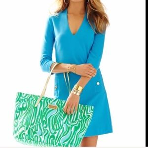 Lilly Pulitzer Charlena Blue Shift Dress